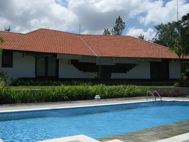 Traditional colonial villa near the beach