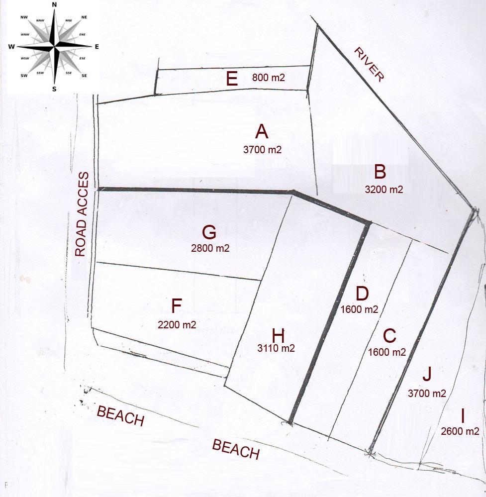 Great breachfront land 84 are close to Babar Villa