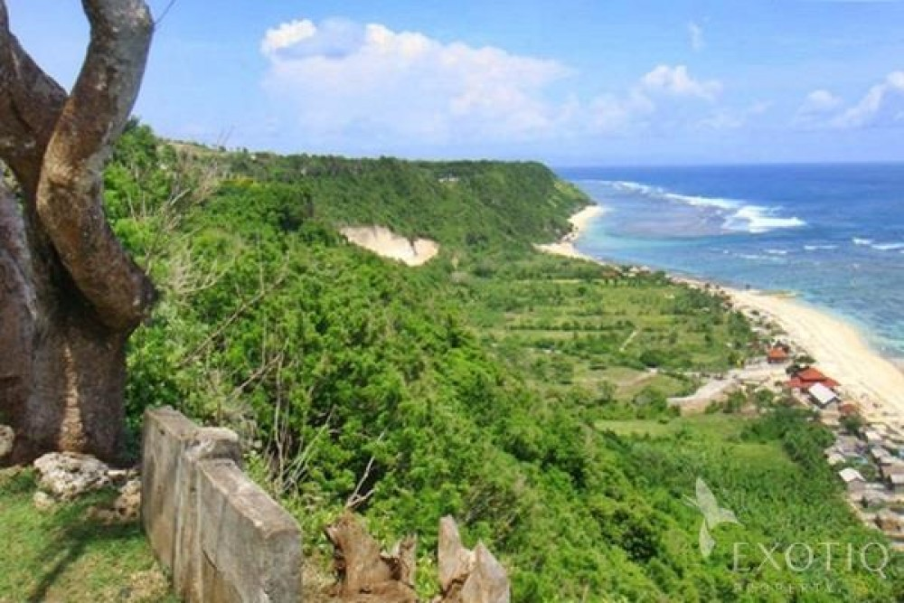 Stunning Cliff Front Freehold Land For Sale in Ungasan