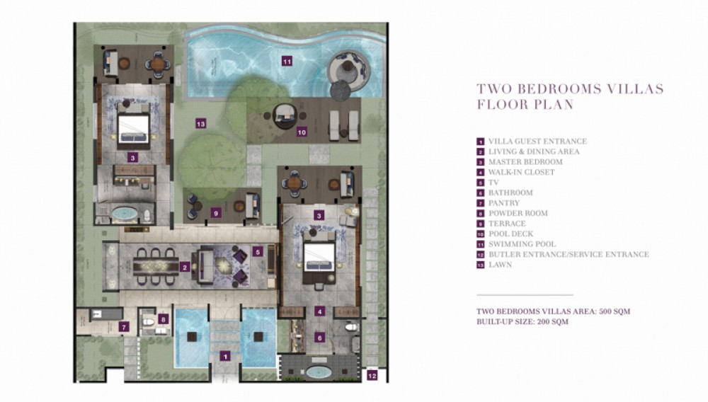 Two bedrooms villa project for sale in Pecatu