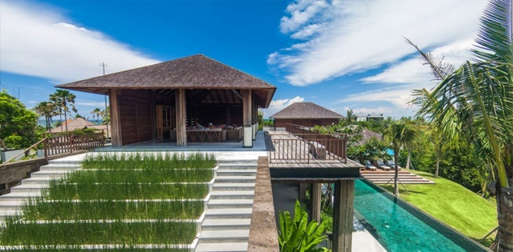 Exclusive 6 Bedroom Freehold Real Estate With Amazing Ocean & Ricefield Views in Cemagi