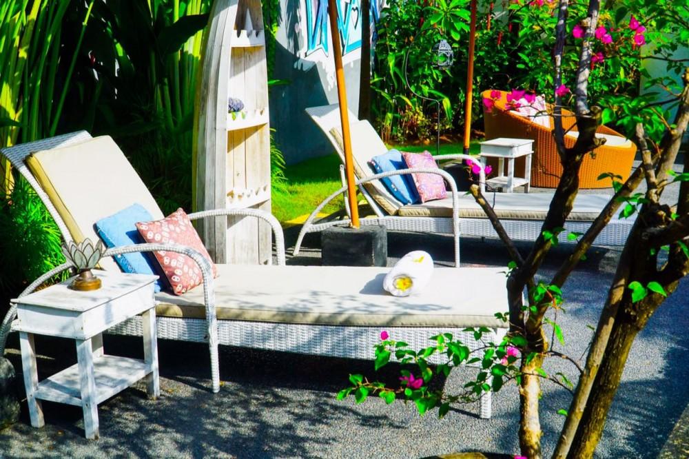 beautiful tropical three bedroom villa in berawa canggu
