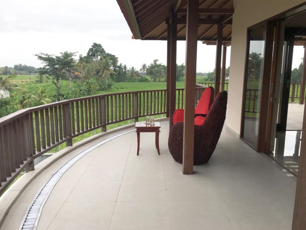 villa 3 kamar hak milik dengan pemandangan sawah