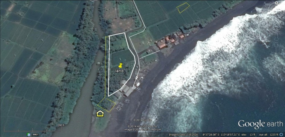 Beach front land for lease in Ketewel