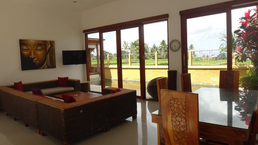 Beautiful freehold villa with amazing rice filed view