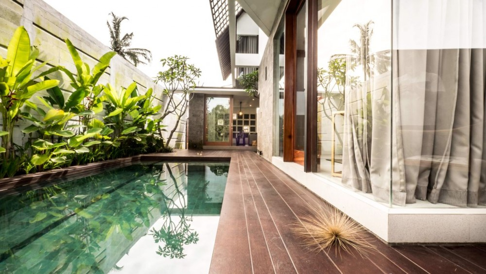 simple and  Modrent style villa only 15 minutes to Ubud central
