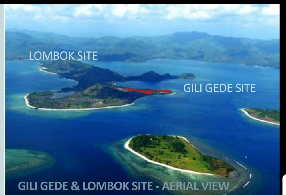Beautiful Beachfront 89 Are Freehold land in Gili Gede for Sale