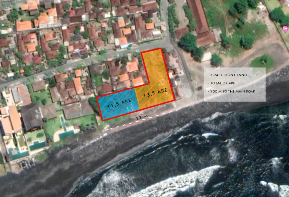Absolute beach front freehold land for sale in Ketewel