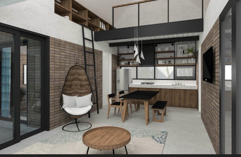Umalas 2 Bedrooms Modern Industrial Style Villa for Leasehold Sale