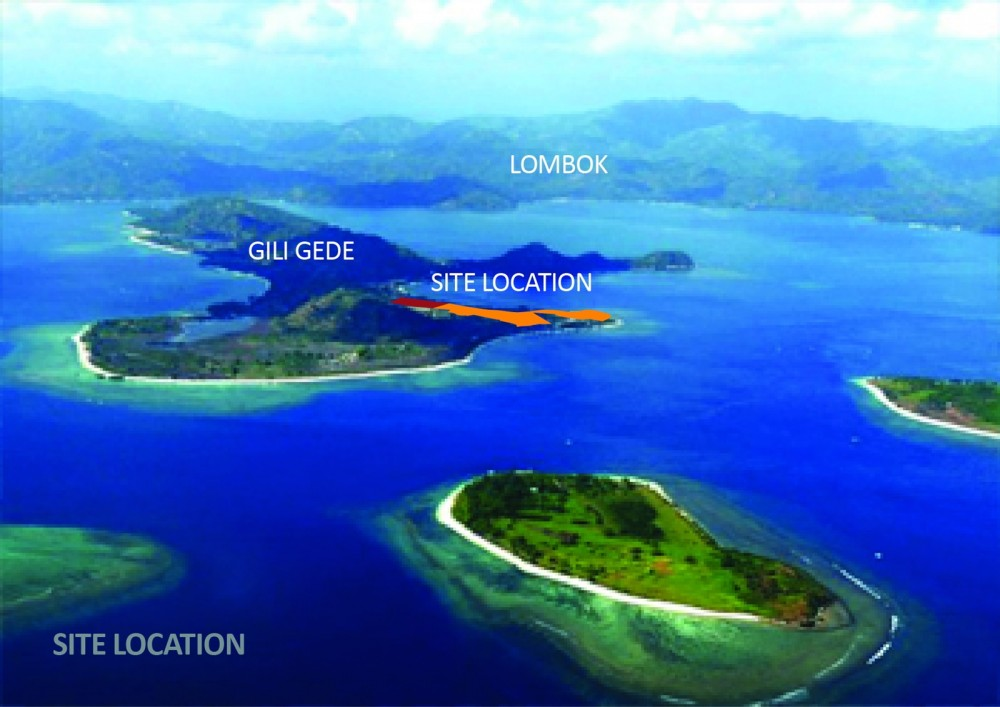 Beachfront Unique Land in Gili Gede Lombok for sale