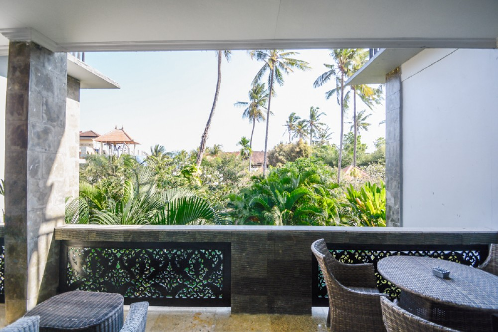 Beachfront Two Bedrooms Apartment inside Resort for Sale in Candidasa