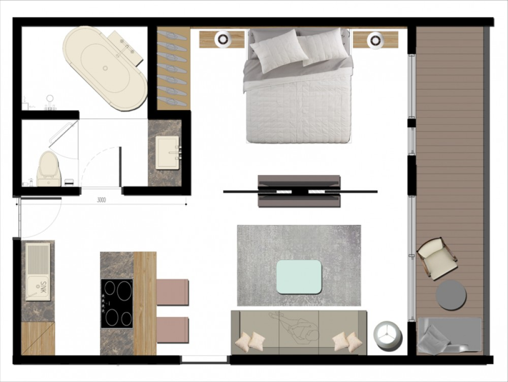 Beautiful Project Studio Apartment for Sale in Echo Beach
