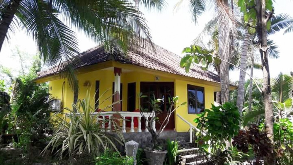 Beautiful Beachfront Villa with Spacious Land for Sale in Karangasem