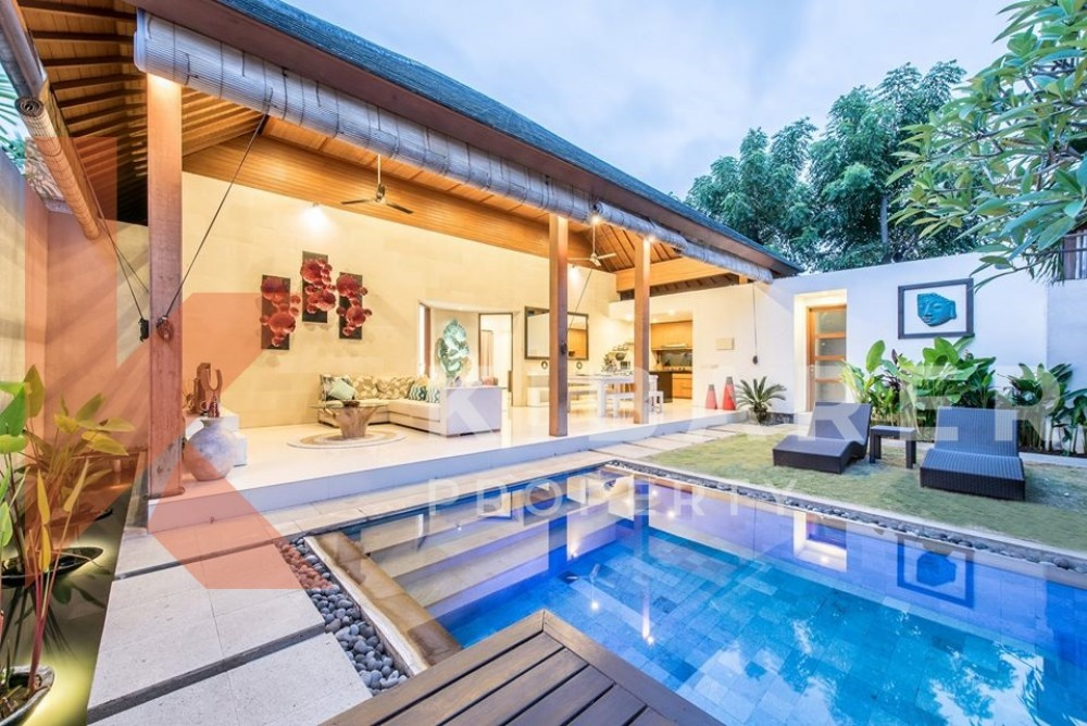 Three bedroom villa is perfectly located in Seminyak
