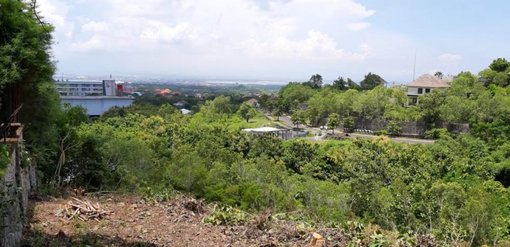 Terrain avec vue GWK et baie de Jimbaran