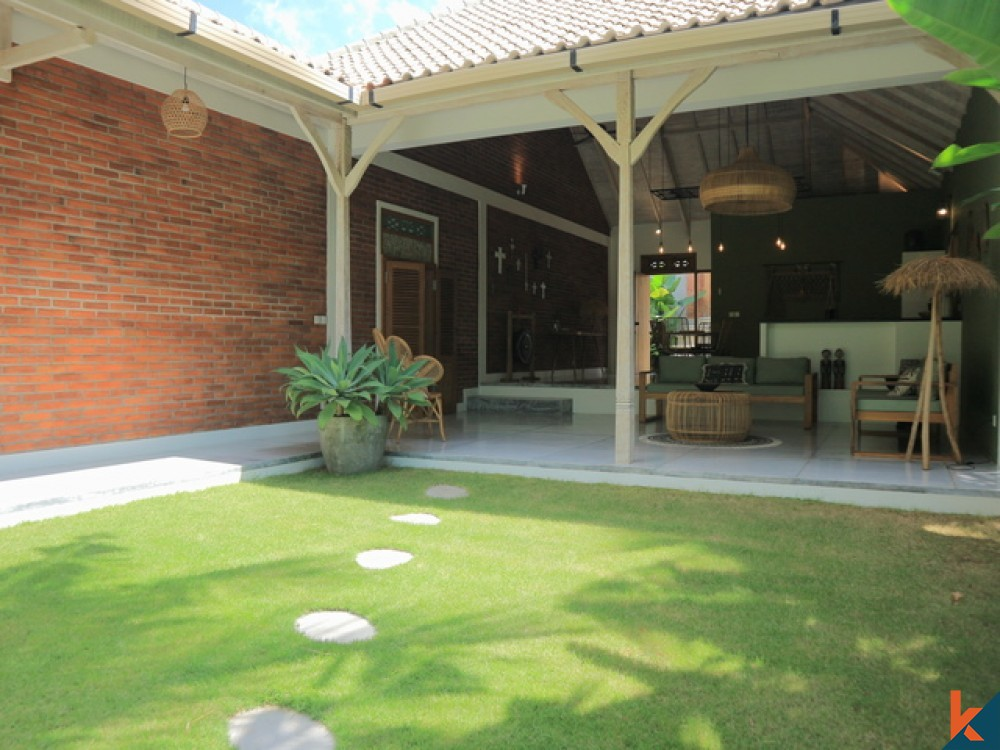 Peaceful and Airy 3 Bedroom Leasehold Villa with River and Jungle Views in Canggu for Sale