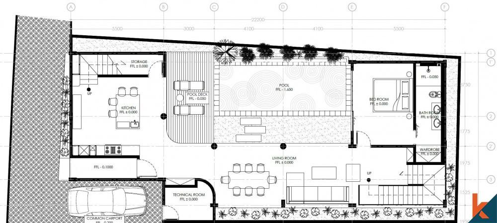 COMFORT OFF-PLAN Leasehold Villa di Berawa