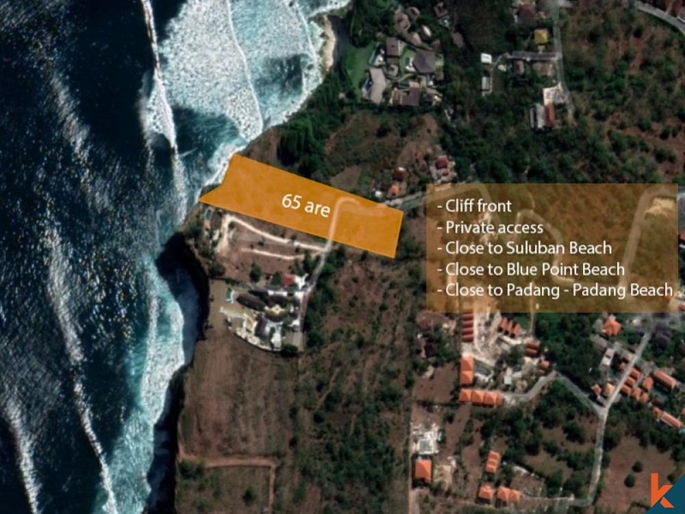Great cliff side land for sale in Uluwatu