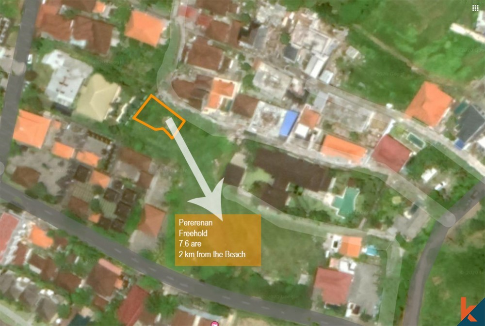 Freehold residential land for sale in Pererenan