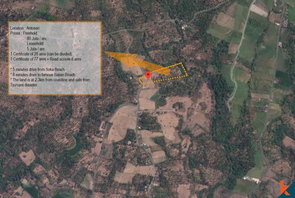 Freehold generous land for sale near Balian