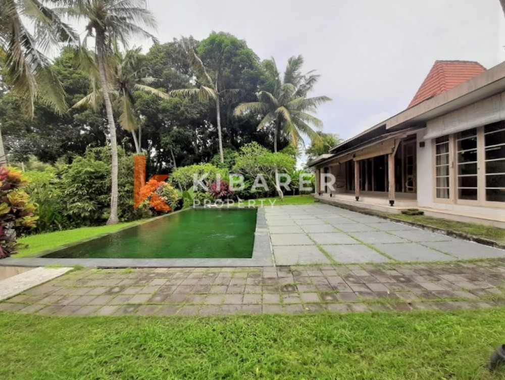 Amazing Three Bedrooms Close Living Room Villa With Huge Garden and Rice Field View in Kedungu