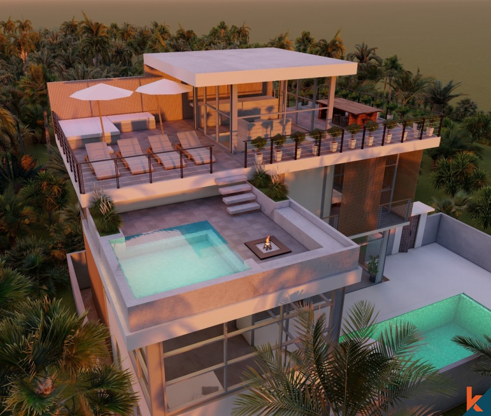 Ultra Modern and Luxurious Off-Plan 3 Bedroom Villa in Canggu for Sale