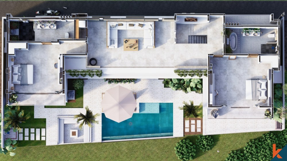 Upcoming Modern Three Bedrooms Villa for Sale in Pererenan