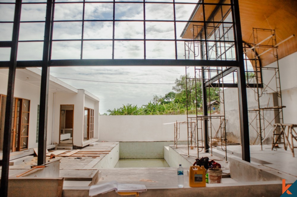 Soon to be Finished Modern Leasehold Villa in Pererenan for Sale