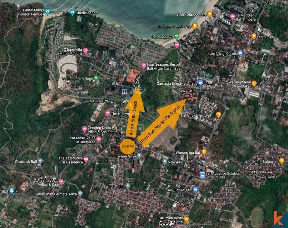 Leasehold land with project and IMB near the beach