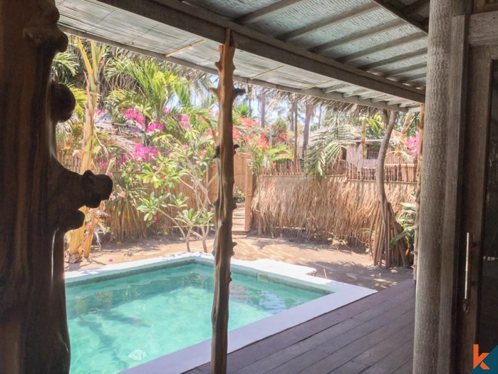 Villa de vacances de deux chambres avec un bon retour sur investissement à vendre à Gili Trawangan