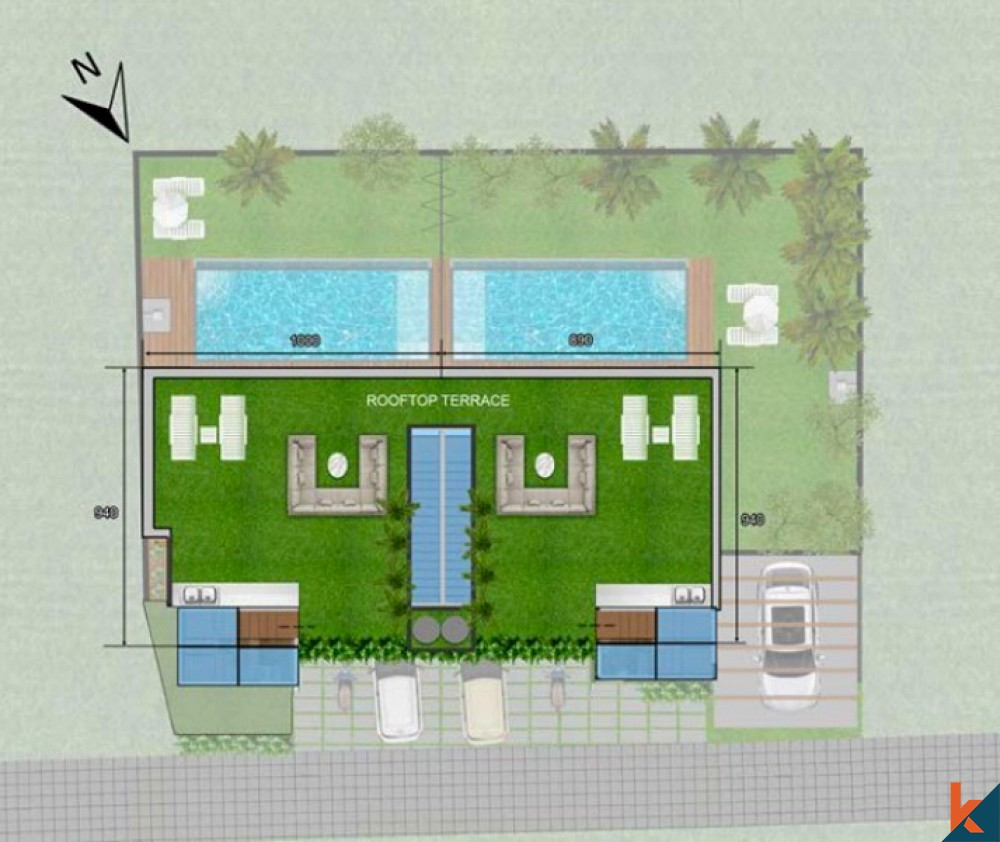 Mirror Two Villas With Mountain and Ocean View for Sale in Kedungu