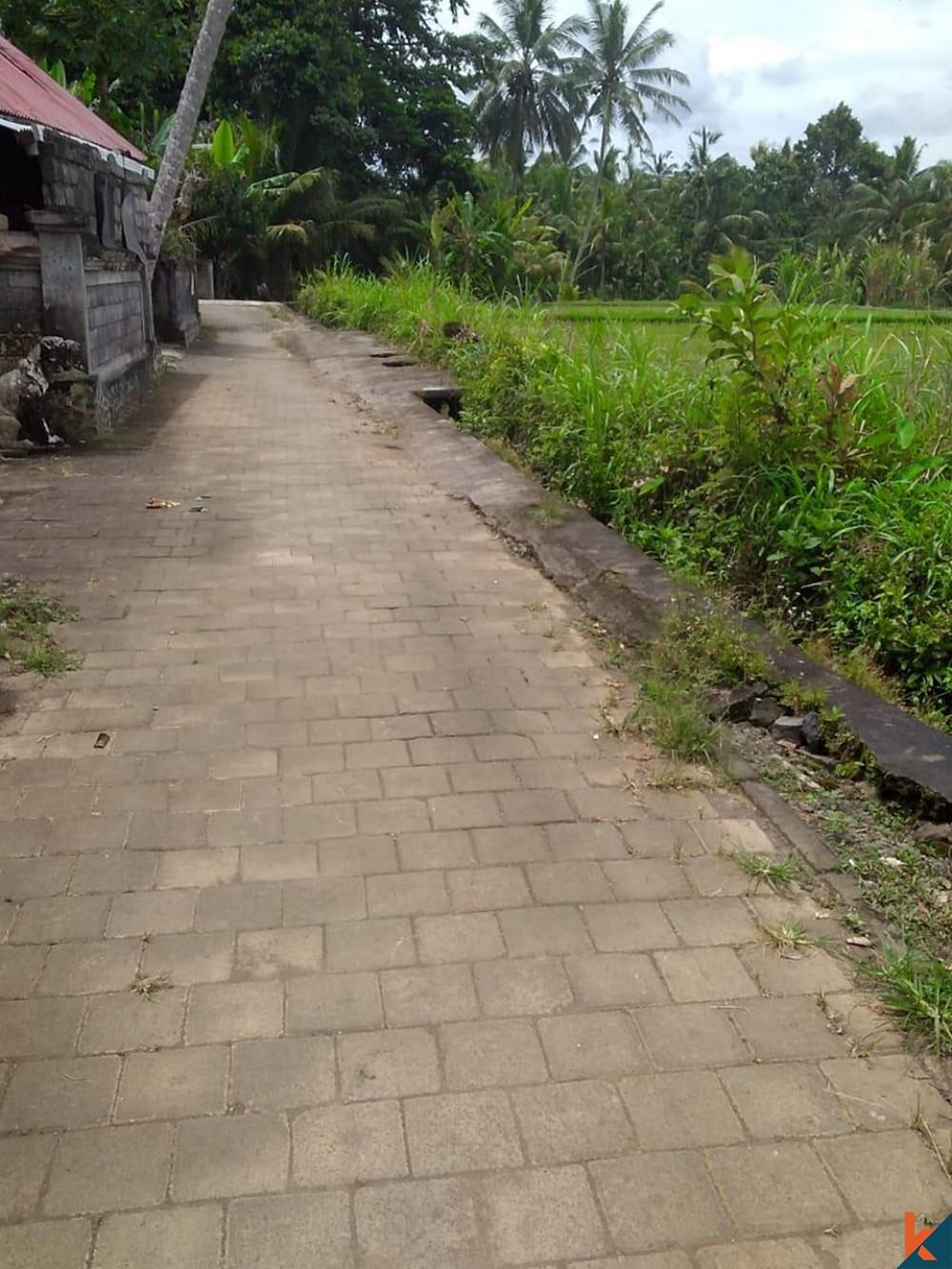 Terrain avec vue imprenable à Tegallalang à vendre