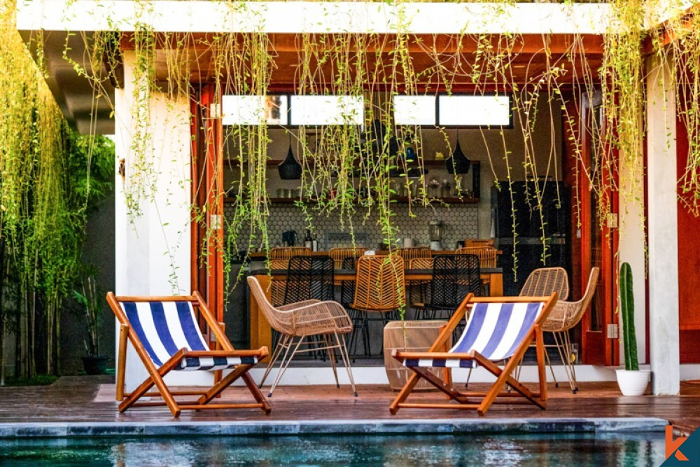 Villa Tiga Kamar Tidur dengan Pemandangan Luar Biasa Dijual di Canggu