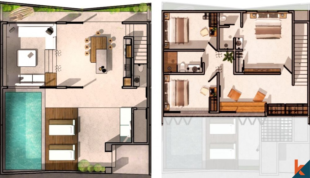 Luxurious New Off Plan 3 Bedrooms Townhouse for Sale in Pererenan