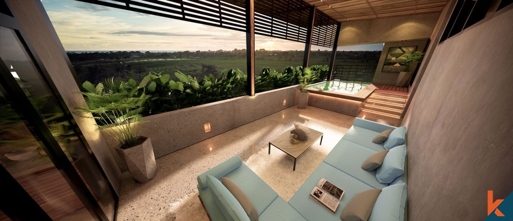 Luxurious New Off Plan 2 Bedroom Penthouse for Sale in Pererenan