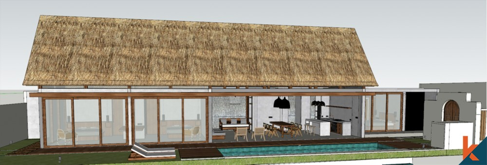 Upcoming Modern Tropical 3 Bedroom Villa in Canggu for Sale
