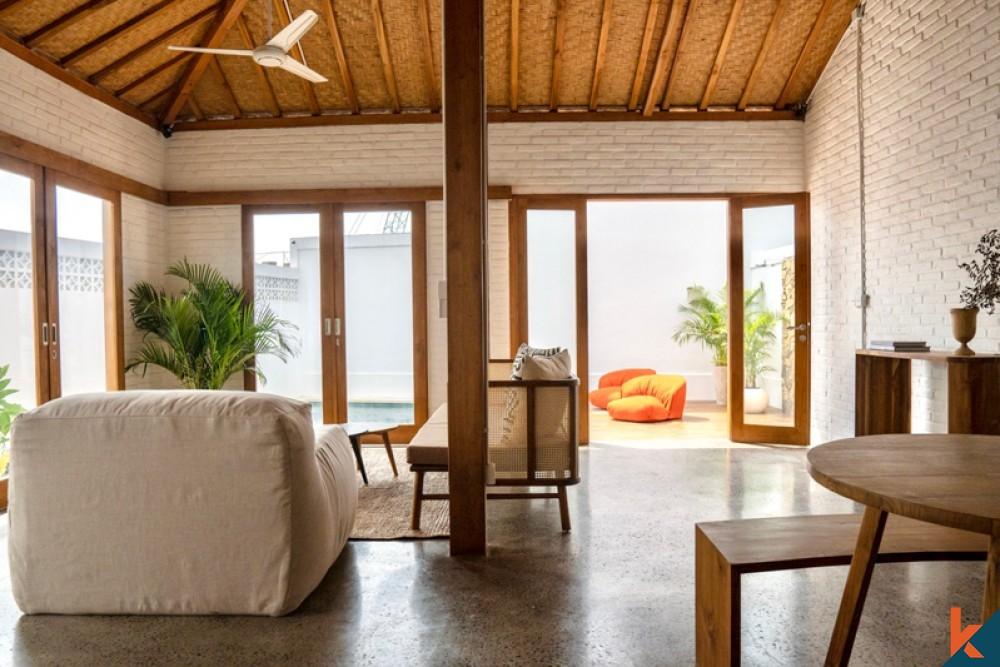 Villa jumelle neuve à vendre près de la plage à Pererenan