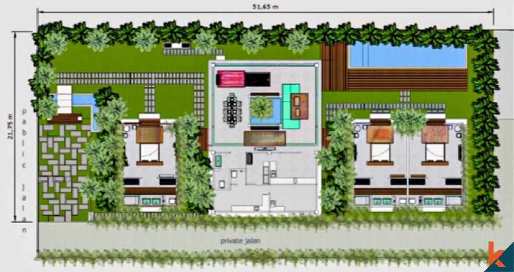 Villa Proyek Tiga Kamar Tidur yang Menakjubkan Dijual di Kedungu