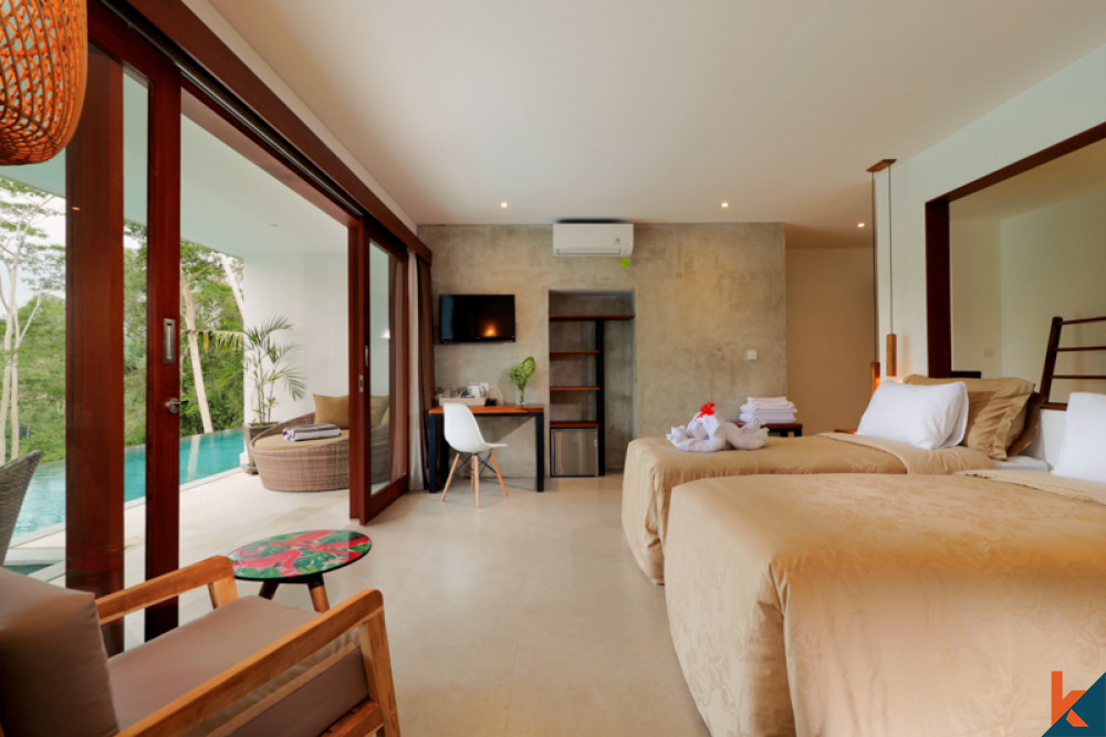 Menakjubkan investasi gaya Bali hotel untuk dijual di Ubud