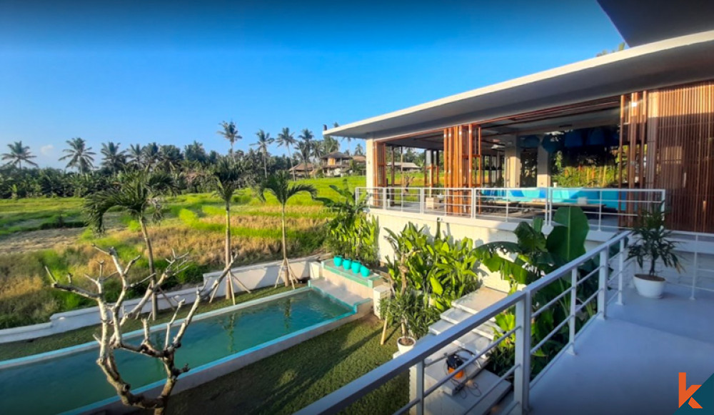 Luxe ultime et design spectaculaire avec vue panoramique sur les rizières emblématiques