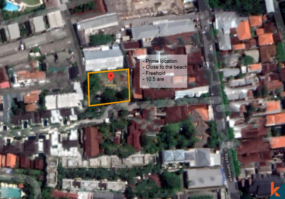 Amazing Freehold Land for Sale in Prime Location of Seminyak
