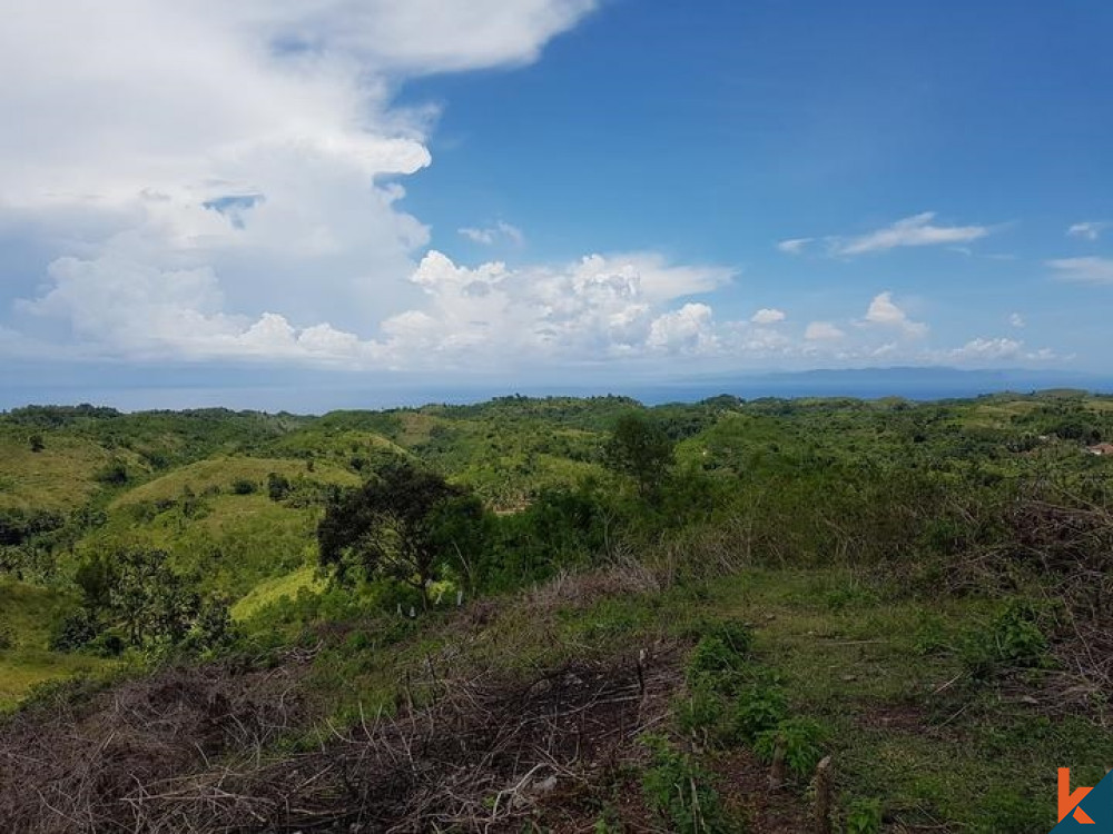 Spectacular Land with Ocean View in Nusa Penida Island for Sale