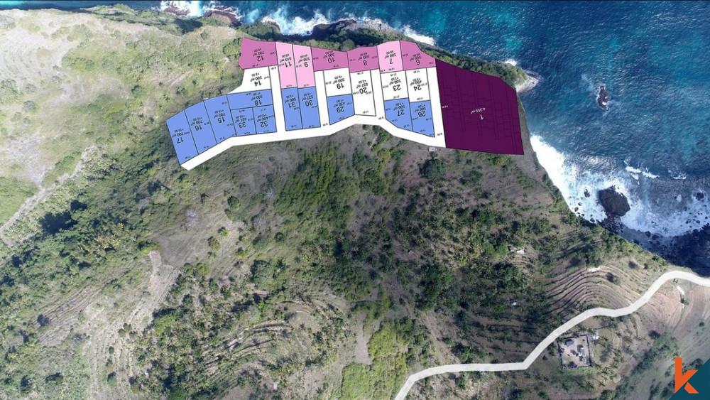 Dijual Tanah Freehold Pemandangan Laut di Nusa Penida