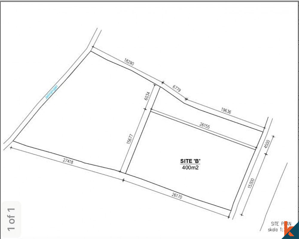 Reduced Price Beautiful Plot of Land 6.6 Are in Babakan for Sale