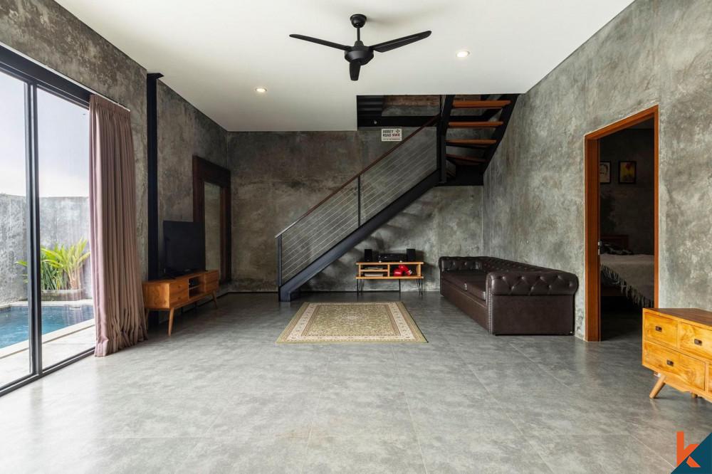Industrial Style 2 Bedroom Villa in Kedungu for Sale